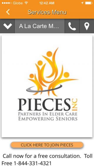 PIECES Elder Care App Screenshot 1